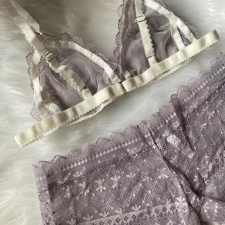 lavender  lace set