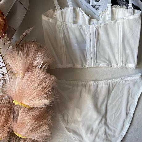 white corset set up 【 A-0303-WH】