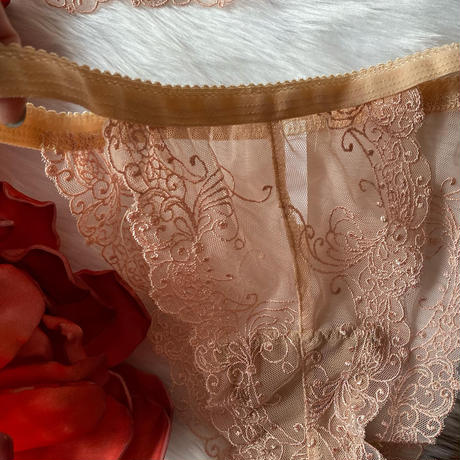 beige lace set