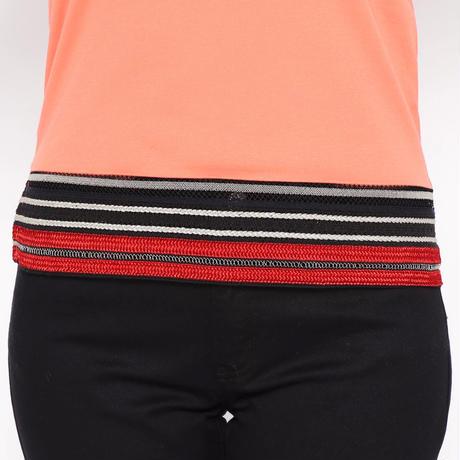 裾リボン付きタンクトップ(オレンジ)
