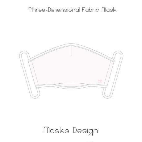 スリーディメーション マスク / ピンクホワイト