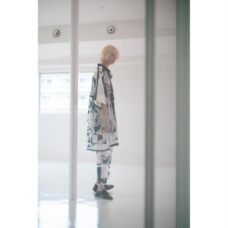 パンツ(スカーフ柄)/(white×navy)