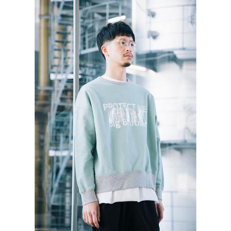 【ユニセックス】裏毛プルオーバー(light green)