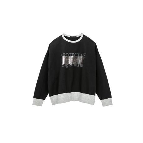 【ユニセックス】裏毛プルオーバー(black)