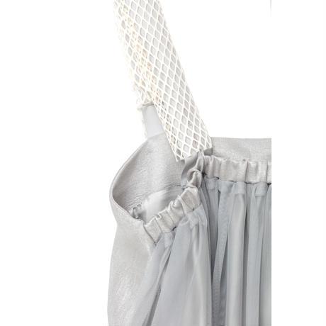 チューブトップワンピース(箔) (silver×silver)
