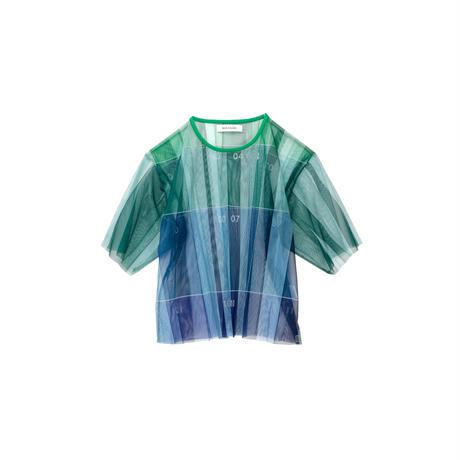 数字柄チュールTシャツ(green)