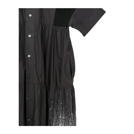 ティアード箔ワンピース(black)