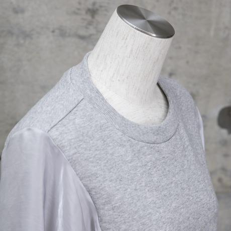 袖シフォンプルオーバー(light gray×blue)