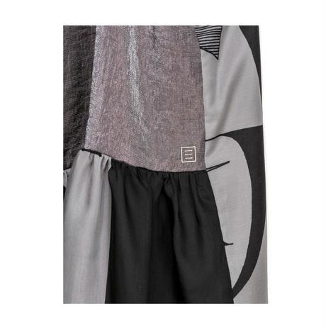 チューブトップワンピース(スカーフ柄)/(charcoal gray)