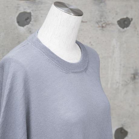 ニットワンピース(gray×blue)