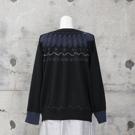 重ねニット(black)