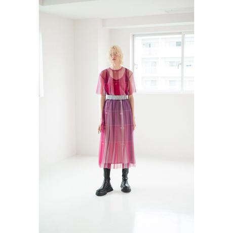 数字柄プリーツスカート(pink)