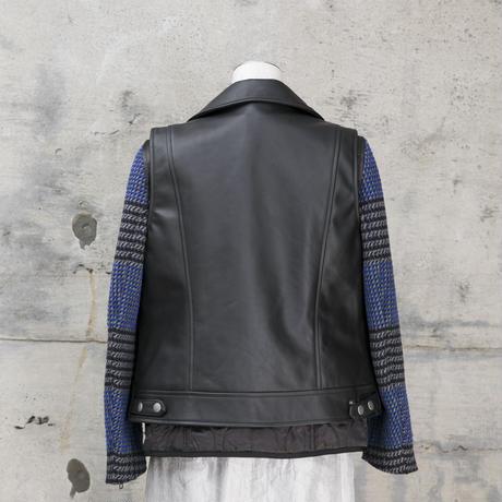 ライダースジャケット(black×blue)