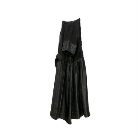 シフォンドッキングワンピース(black)