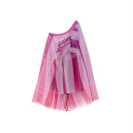数字柄チュールTシャツ(pink)