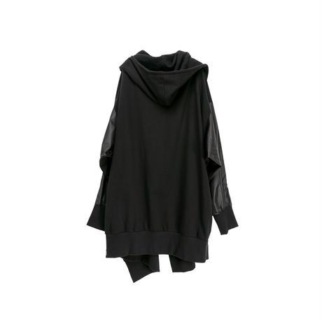 【ユニセックス】裏毛パーカー(black)