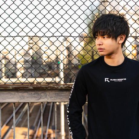 Rush Gaming Long T-shirts  (Black)