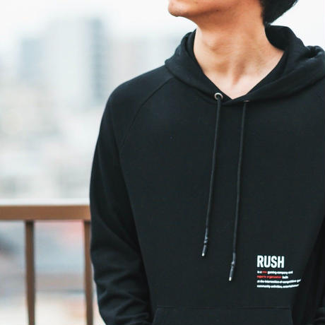 Rush Gaming オリジナルパーカー (Black)