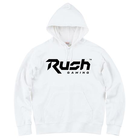 Rush Gaming チームロゴパーカー (White)