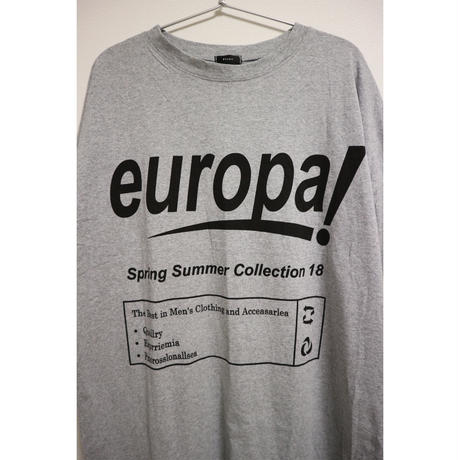 europaプリントロゴTシャツワンピース【GRAY】