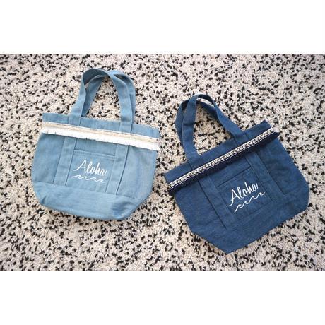 ALOHA刺繍フリンジトートバッグ