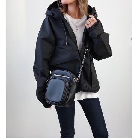 UTILITYナイロンパーカージャケット【BLACK】
