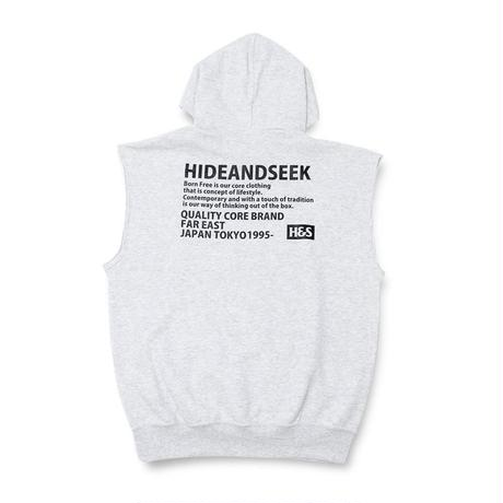 Cut Off Hooded Sweat Vest