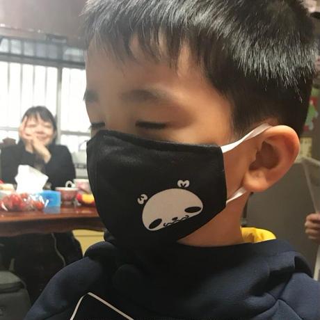 【マスク】ウェルモパンダデザイン【黒】