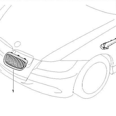 BMW E92 M3 ブラッククロームキドニーグリル 左右セット