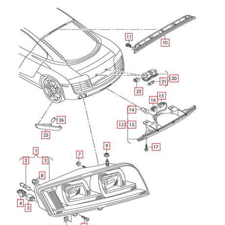 Audi 純正 R8(42) US サイドマーカーセット
