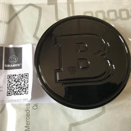smart BRABUS 純正  ホイールセンターキャップ(ブラック)