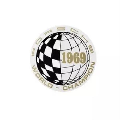 Porsche 1969 WORLD CHAMPION ウィンドウ ステッカー