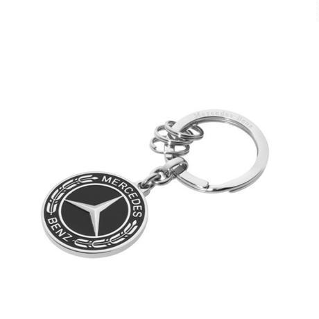 Mercedes-Benz New エンブレム キーホルダー (ブラック ローレルリース)