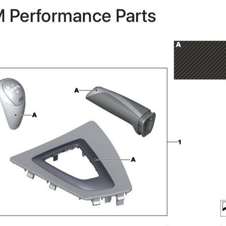 BMW 純正品 M2 F87 M Performance カーボン インテリアセット 右ハンドル用 51952411429