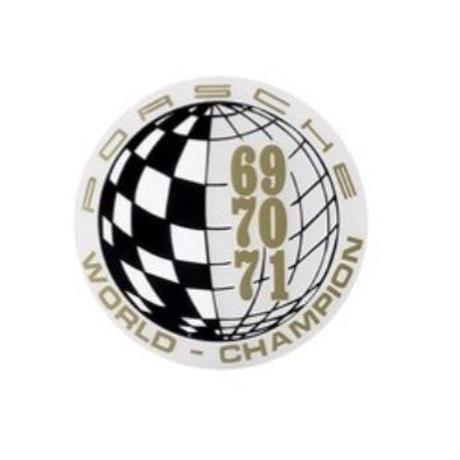 PORSCHE  1969 1970 1971 WORLD CHAMPION ウィンドウ ステッカー