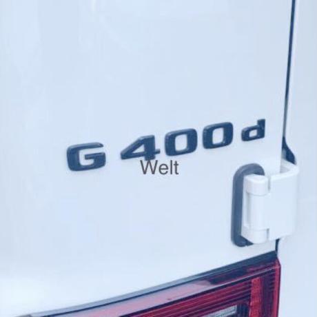 Mercedes-Benz 純正品 W463A G400d ブラック エンブレム マヌファクトゥーア