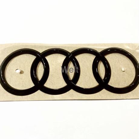 Audi 純正品 RS3 セダン 8V  RSQ3 Sportback F3 グロスブラック リア 4リングス エンブレム / Q3 A3 S3