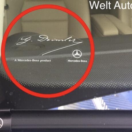Mercedes-Benz 北米 純正 フロントガラス ダイムラー ステッカー