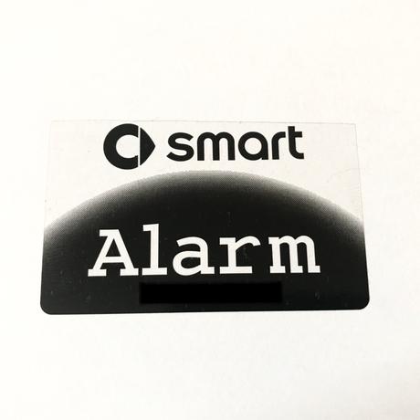 smart 純正 アラーム ステッカー