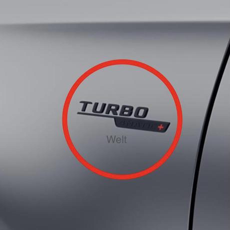 Mercedes-Benz 純正品 TURBO 4MATIC+ ブラック サイド エンブレムセット W177 AMG A45S C118 CLA45S H247 GLA45S