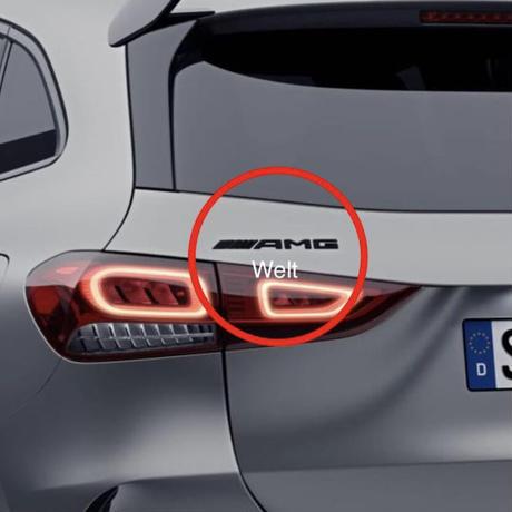 Mercedes-Benz 純正品 H247 AMG ロゴ ブラック リア エンブレム GLA35 GLA45 S  4MATIC+