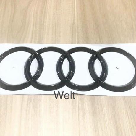 Audi 純正品 A8 S8 4N Q2 リア グロスブラック 4リングス エンブレム
