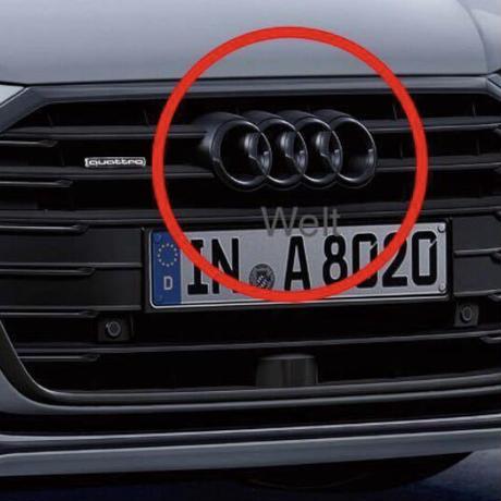 Audi 純正品 A8 S8 4N Q2 後期 フロント グロスブラック 4リングス エンブレム