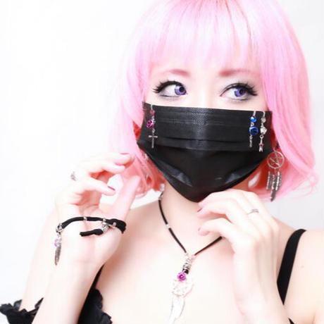【Hiina Rose】/スワロフスキー マスク・クリップセット(ブルー/ブラック/パープル)