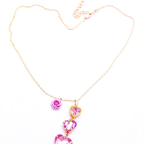 【Hiina Rose】/3連ハート ネックレス