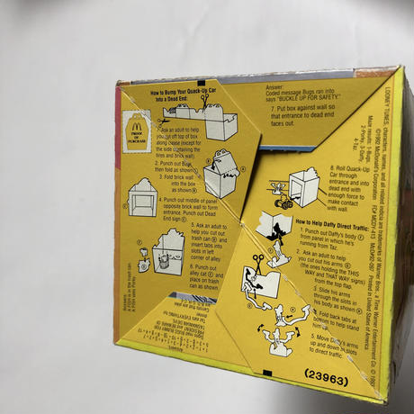 McDonald Happy Meal punch out playbox
