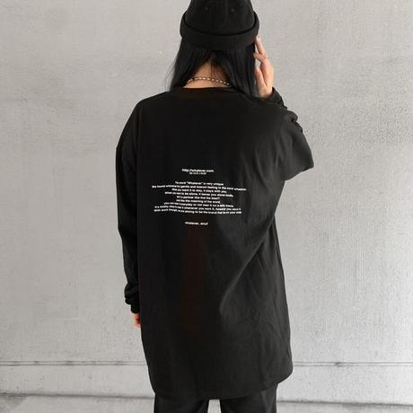 "Long T-shirt  ""sentence"""