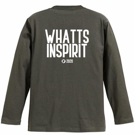 WHATTS INSPIRIT オリジナルロンT/チャコール