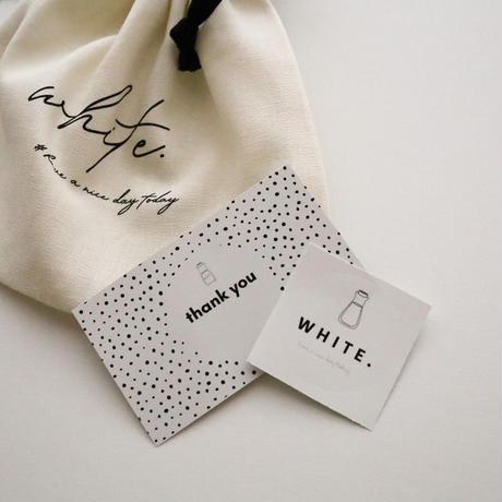 WHITE.巾着