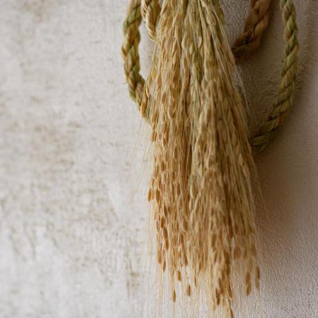 しめ飾り/宝珠赤米白穂